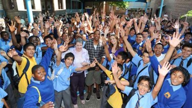 Jay Z and Polly Dunning had all the students at Canterbury Boys' School smiling.