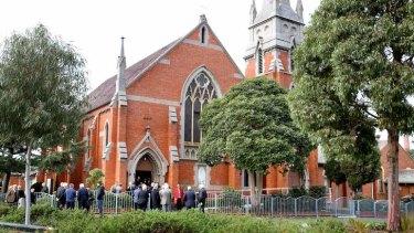 Parishioners at St. Nicholas' Church in Clifton Hill.