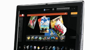 HP TouchSmart 600: new all-in-one touchscreen computer running Windows 7.