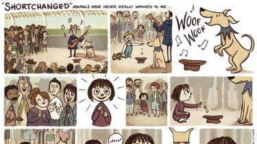 <i>Shortchanged</i> by Rebecca Hayes is one of the comics that appears in graphic newspaper <i>Drawn From Life</i>.