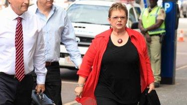 Battle for vindication ... Lindy Chamberlain-Creighton, above, arrives for the latest inquest in Darwin.