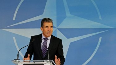 Warning: NATO Secretary General Anders Fogh Rasmussen says Russia's actions are a blatant violation of Ukraine's sovereignty and territorial integrity.