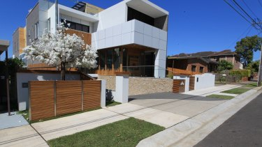 The exterior of Mehajer's home in Lidcombe.