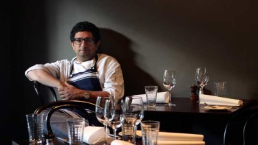 Chef Michael Bacash in his South Yarra restaurant: ''Why is the work you do on a Sunday so much more expensive than the work you do on a Wednesday?''