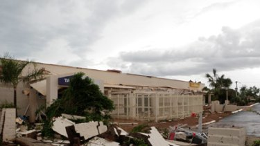 Damage to the All Seasons Hotel in Karratha.