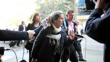 Kathy Jackson leaving court in Sydney today.