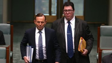 """""""Unaffordable"""": George Christensen, right, is among Coalition MPs who have called for paid parental leave to be dropped to save budget funds."""