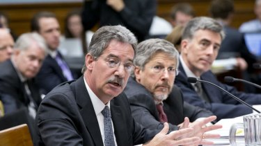 From left to right, Deputy Attorney General James Cole, Robert S. Litt, general counsel in the Office of Director of National Intelligence, National Security Agency Deputy Director John C. Inglis.