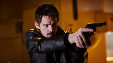 Ethan Hawke plays an agent who can jump around in time in the thriller <i>Predestination.</i>