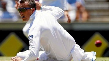 Down and out: Graeme Swann has had an unhappy Ashes series.