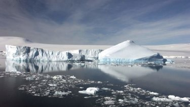 Not so slowly disappearing: Antarctic ice sheets.