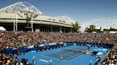 A woman was assaulted at the tennis on Wednesday night.