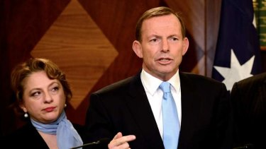 Sophie Mirabella and Tony Abbott.