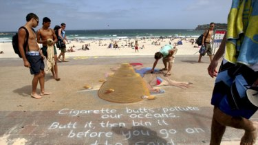 Education … Rudy Kistler's mural at Bondi Beach commissioned by Waverley Council.