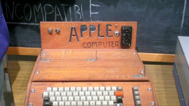 One of the first Apple computers, now in a museum.