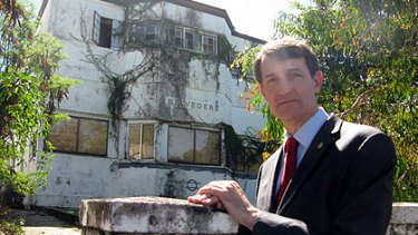 Graham Quirk outside the Belvedere house in West End.