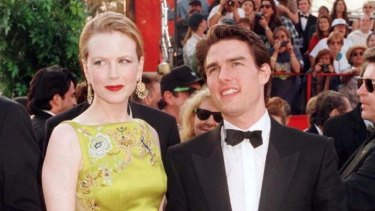 Nicole Kidman and prominent Scientologist Tom Cruise in 1997.