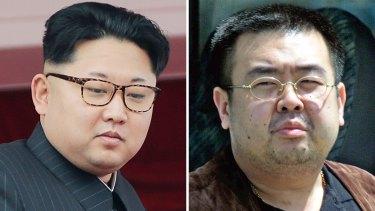 North Korean leader Kim Jong-un, left, last year in Pyongyang, and his late half-brother, Kim Jong-nam, in Narita, Japan in 2001.