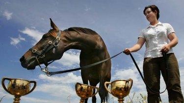 Racing royalty ... Makybe Diva.