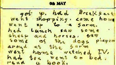 Pages from Ted Baillieu's diary in 1961.