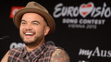 Has an automatic 'wildcard' entry into the Eurovision final: Guy Sebastian of Australia has the world's attention in Vienna.