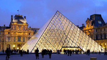 France: I.M. Pei's Pyramide du Louvre at the Louvre Museum, 1989.