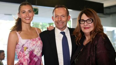 Frances Abbott, Tony Abbott and Leanne Whitehouse.