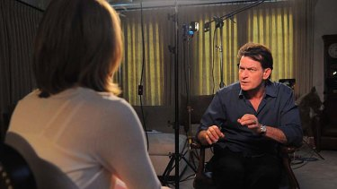 Actor Charlie Sheen talks to the US network ABC.