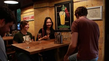 Left to right Natasha Marshall and Sarah Keith enjoy a cider at 'The Local' in Darlinghurst.Photo. Sahlan Hayes