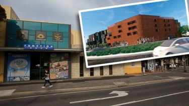 Before and after. Williamstown RSL Club and inset, the proposal for new apartments.