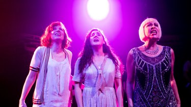 Outstanding: Billie Rose Pritchard as Cora, Baylie Carson as Mabel and Natalie Gamsu as Rose.    Hayes Theatre