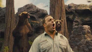 Simply unbearable … head keeper Griffin (Kevin James) tries some animal mating calls for size after being given dating advice by the zoo's furrier inhabitants.