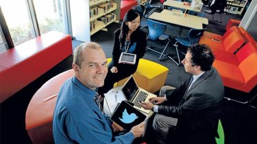 Logged in: Keysborough College teacher Roland Gesthuizen likens Twitter to fishing.