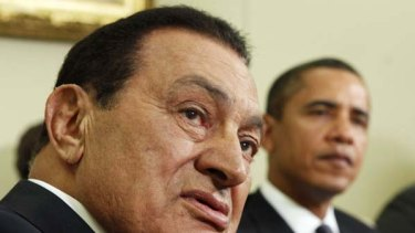 Once upon a time, an asset to the West ... Hosni Mubarak is hosted by Barack Obama at the Oval Office in 2009.