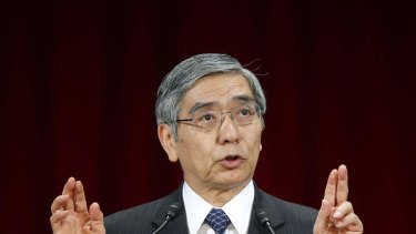 Toast of the town: Doubts are emerging about Haruhiko Kuroda's strategy.