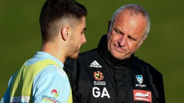 """""""I have ever been afraid to give young players a chance"""": Sydney FC coach Graham Arnold on new recruit Christopher Naumoff."""