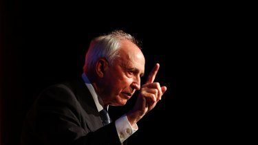 Former Prime Minister Paul Keating delivers a speech at the Hearts and Minds conference on Friday.