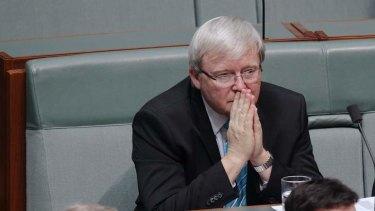 No challenge: Kevin Rudd.