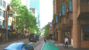 Compromise ... this has the drop-off zone and cycleway side by side.