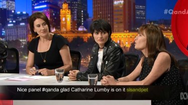 Catherine Lumby, right, and Isabella Manfredi spoke on Thursday night's Q&A special.