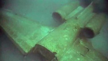 """Pull up, pull up"" ... wreckage of the sunken plane."