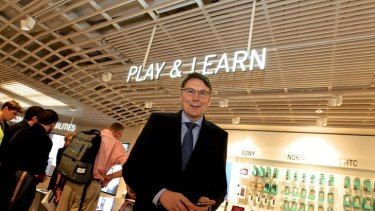 "Apple of his eye: ""We wanted to envelop people in a digitally intimate environment,"" says Telstra CEO David Thodey of the company's newly opened Discovery Store in Sydney."
