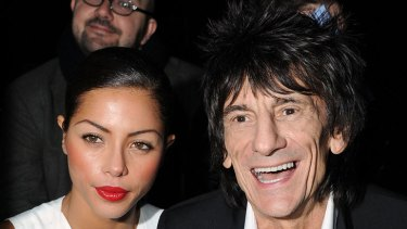 Ronnie Wood with girlfriend Ana Araujo.