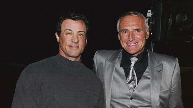 Red and Rambo ... with Sylvester Stallone.