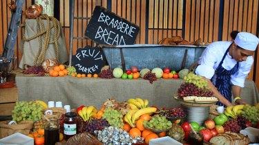 Food on display at TEDx Sydney.