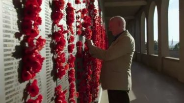 """Alf (Ray Meagher) at the Australian War Memorial, where an upcoming episode of """"Home and Away"""" was filmed."""