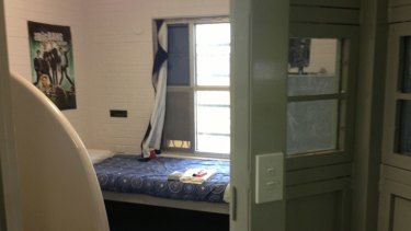 Inside a cell at the refurbished Banksia Hill detention centre.