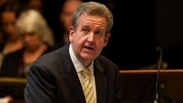 """""""I'm a lover not a fighter"""" ... NSW Premier Barry O'Farrell."""