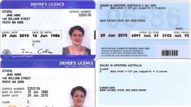 western australian drivers licence photo