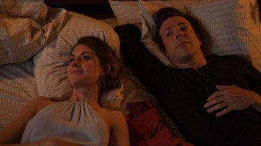 Alison Brie and Jason Sudeikis in <i>Sleeping with Other People</i>.